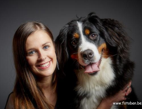 Portretfoto met hond